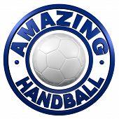 Amazing Handball Circular Design