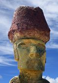 Moai at Anakena Beach