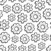 Seamless mechanical gear background