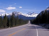 Highway 93, Icefields Parkway, Canada.