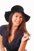 Charming Woman In A Black Hat