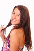 Pretty Young Woman With Long Hair