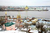 December View Stroganov Church And Cathedral Nevsky Nizhny Novgorod