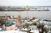 Постер, плакат: Декабрь зрения Строгановская церковь и собор Невский Нижний Новгород
