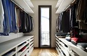beautiful apartment, interior, wardrobe