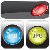 Jpg. Internet buttons. Raster illustration. Vector version is in my portfolio.