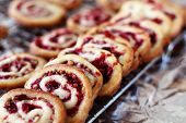 Cranberry Nut Swirl Cookies