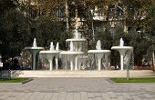 Fountain In A Center Of Baku
