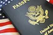 Passport and flag