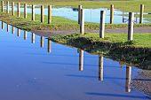 Sendero inundado