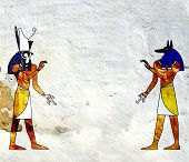 image of horus  - Background with Egyptian gods images  - JPG