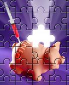 Puzzle With Missing Piece Swine Flu Ah1N1