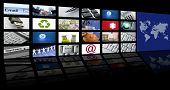 Video tv-Screen-Technologie und Kommunikation