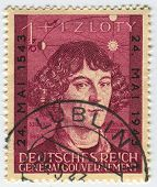 DEUTSCHES REICH  - CIRCA 1943: A stamp printed in Deutsches Reich shows image of the Nicolaus Copern