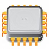 stock photo of microprocessor  - Icon for microprocessor - JPG