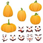 picture of jack o lanterns  - Five different shapes of fun - JPG