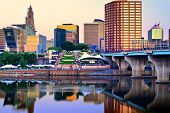 image of northeast  - Skyline of downtown Hartford - JPG