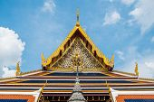 Roof Of A Temple In Wat Phra Kaew
