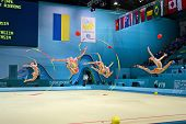 Kiev - Sep 01: 32Nd Rhythmic Gymnastics World Championships On September 01, 2013 In Kiev, Ukraine.