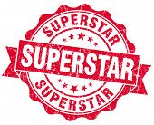 Superstar Grunge Red Stamp