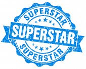 Superstar Grunge Blue Stamp