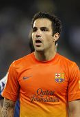 BARCELONA - MAY, 26: Cesc Fabregas of FC Barcelona during the Spanish League match between Espanyol