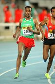 BARCELONA - JULY, 14: Muktar Edris of Ethiopia during 5000 meters of the 20th World Junior Athletics Championships at the Olympic Stadium on July 14, 2012 in Barcelona, Spain