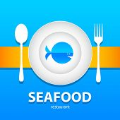 template design - seafood menu