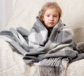 stock photo of cold-shoulder  - Illness child - JPG