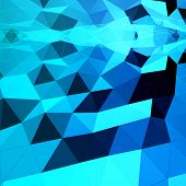 Blue Abstract Triangular Background