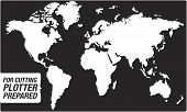 Map Of The World for Cutting Plotter (vector)