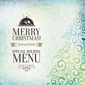 Special christmas restaurant menu design