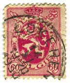 BELGIUM - CIRCA 1930: A stamp printed in Belgium shows image of the Coat Of Arms, circa 1930.
