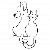 Sketchy Cat And Dog