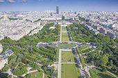 Champ-de-mars from the Eiffel Tower