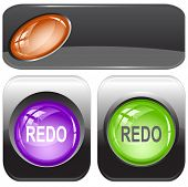 Redo. Internet buttons. Raster illustration. Vector version is in my portfolio.