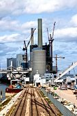 Construction site for a new power plant in Mannheim in Germany