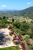 The View On Ruins In Ancient Messene (messinia), Peloponnes, Greece
