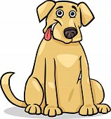 Labrador Retriever Dog Cartoon Illustration