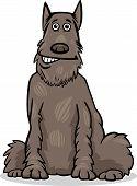 Schnauzer Dog Cartoon Illustration