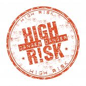 High risk grunge rubber stamp