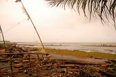 Ocean Coast Near Village