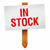 In Stock Sign Isolated On White Background