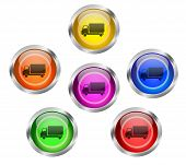 Shipping Transportation Icon Button