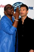 LOS ANGELES - FEB 20:  Randy Jackson, Ryan Seacrest at the American Idol 13 Finalists Party at Fig &