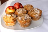 Apples into muffins