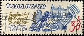 CZECHOSLOVAKIA - CIRCA 1979: A stamp printed in Czechoslovakia showing Czechoslovakia symphonic orch