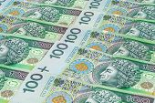 Banknotes Of 100 Pln (polish Zloty)