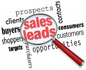 picture of clientele  - Sales Leads Looking Finding Searching Magnifying Glass - JPG
