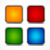 Colored Square Buttons